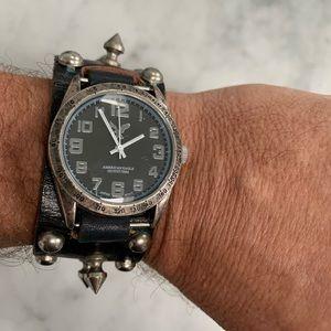 Vintage 1980 studded Punk watch / band.